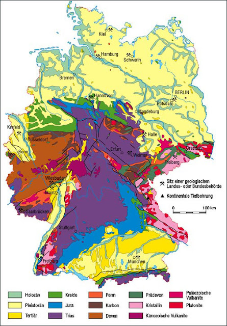 Read more about the article Online: Geologische Karte von Deutschland