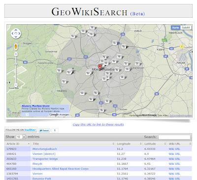Read more about the article GeoWikiSearch zeigt was Wikipedia über eine spezielle Region kennt
