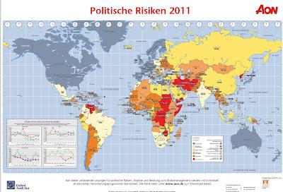 Read more about the article Politische Weltkarte der Risiken und Krisengebiete 2011