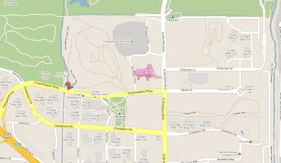 Read more about the article In Google Maps läuft ein roser Elefant herum