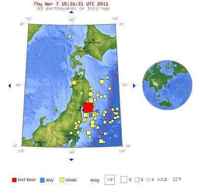 Read more about the article Erbeben der Stärke 7.1 vor der Küste Japans
