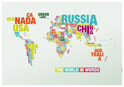 Read more about the article Die typographische Weltkarte – Die Welt in Ländernamen