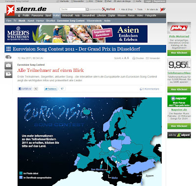Read more about the article Landkarte zeigt alle Teilnehmer des Eurovision Song Contest: