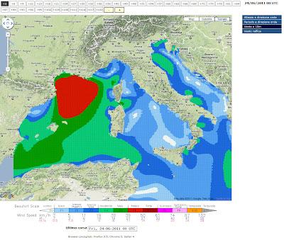 """Read more about the article """"Meteo mari e venti"""" liefert sehr umfangreiche und aktuelle Wind- und Wellenvorhersage für das Mittelmeer"""