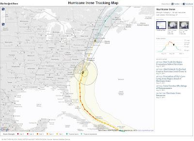 Read more about the article Aktueller Standort und Details zum Hurrikan Irene