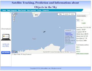 Read more about the article Satellitentracker Infosatellites zeigt wo sich der abstürzende UARS-Forschungssatellite befindet