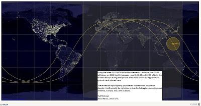 Read more about the article Laut NASA dürfte der abstürzende UARS-Satellite in den Pazifik vom Himmel fallen – Nur im Extremfall kann auch Nord- oder Süddeutschland was abbekommen!