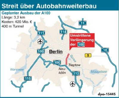 Read more about the article Landkarten zur Autobahn 100 in Berlin
