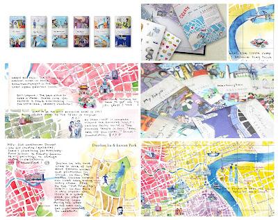 Read more about the article NEU: A la Carte bietet Stadtpläne vom Künstler gemalt und mit positiven und negativen Empfehlungen von jedermann