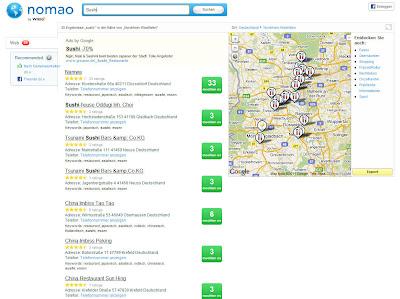 Read more about the article nomao – Neben vielen Restaurants sind hier auch andere Locations zu finden.
