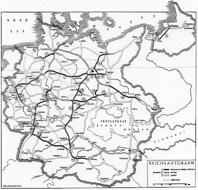 Read more about the article Deutschlandkarten zeigen die Autobahnen in Deutschland im Zeitraum des 2. Weltkrieg