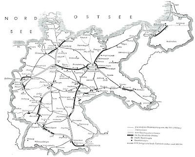 Read more about the article Deutschlandkarte von 1935 zeigt die in Bau befindlichen Reichsautobahnen in Deutschland