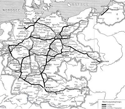 Read more about the article Deutschlandkarte von 1939 zeigt die Autobahnteilstücke, die in 4 Jahren entstanden sind oder noch in Bau oder Planung sind