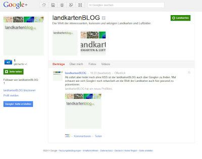 Read more about the article Der landkartenBLOG ist jetzt auch auf Google+