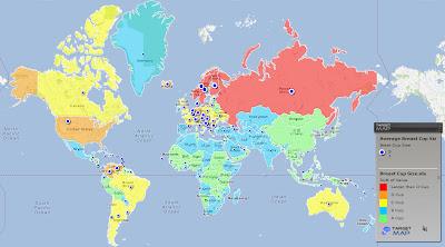 Read more about the article Weltkarte der BH-Größen von Frauen