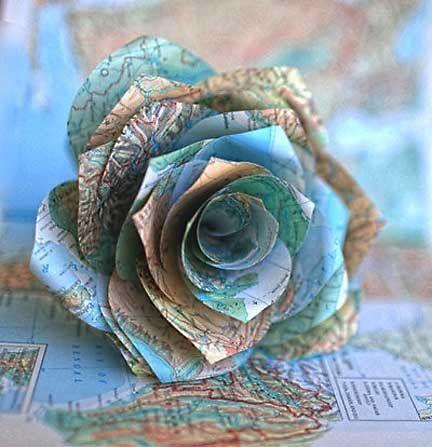 Read more about the article Eine Rose aus einer Landkarte