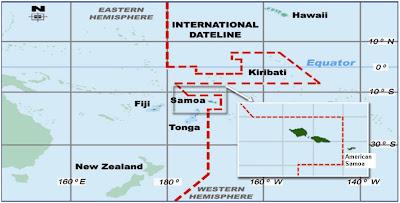 Read more about the article Landkarten von Samoa was Silvester von der Landkarte verschluckt wird