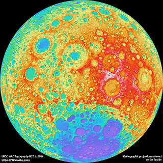 Read more about the article Neues riesiges topographisches Satellitenbild vom Mond