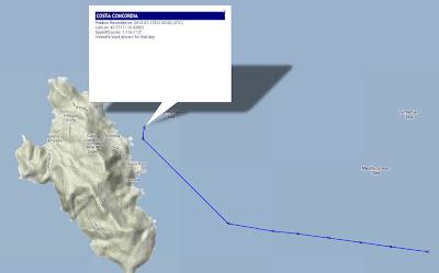 Read more about the article Schifftracker zeigt dank LIVE-Daten eindeutig Navigationsfehler der Costa Concordia