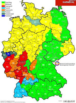 Read more about the article Deutschlandkarte des Karnevals zeigt wie der Karneval in einzelnen Regionen heisst