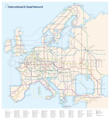 Read more about the article U-Bahnplan der Europastraßen in Europa