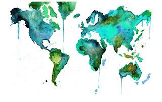 Read more about the article Eine Weltkarte aus Ölfarbe