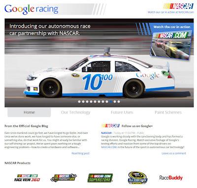 Read more about the article Google Rennwagen startet mit Streetviewtechnologie in der NASCAR