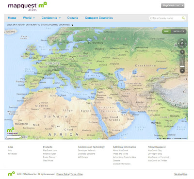 Read more about the article Mapquest Atlas – Ein interaktiver Kartendienst mit Länderinformationen