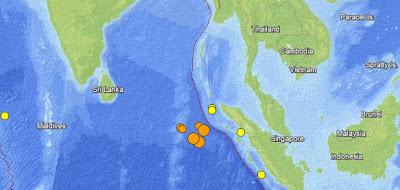 Read more about the article Mehrere starke Erdbeben mit Magnitude 8.6 und 8.2 vor Indonesien und Thailand