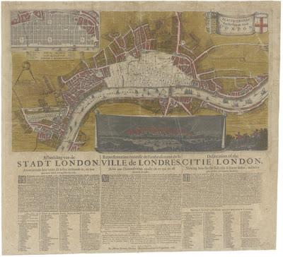 Read more about the article 1666 – Ein Stadtplan vom verbrannten London