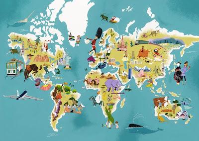 Read more about the article Die bunte Weltkarte für Kinder
