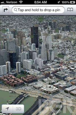 Read more about the article EXKLUSIV! Screenshots von Apple Maps für iOS6 sind Fakes und in Wirklichkeit 3D-Ansichten von Nokia Maps