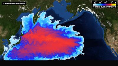 Read more about the article Simulation zeigt wo und wie hoch die Radioaktivität im Pazifik ist