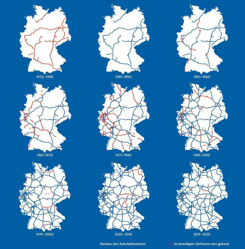 Read more about the article Das Autobahnnetz von Deutschland im Rückblick