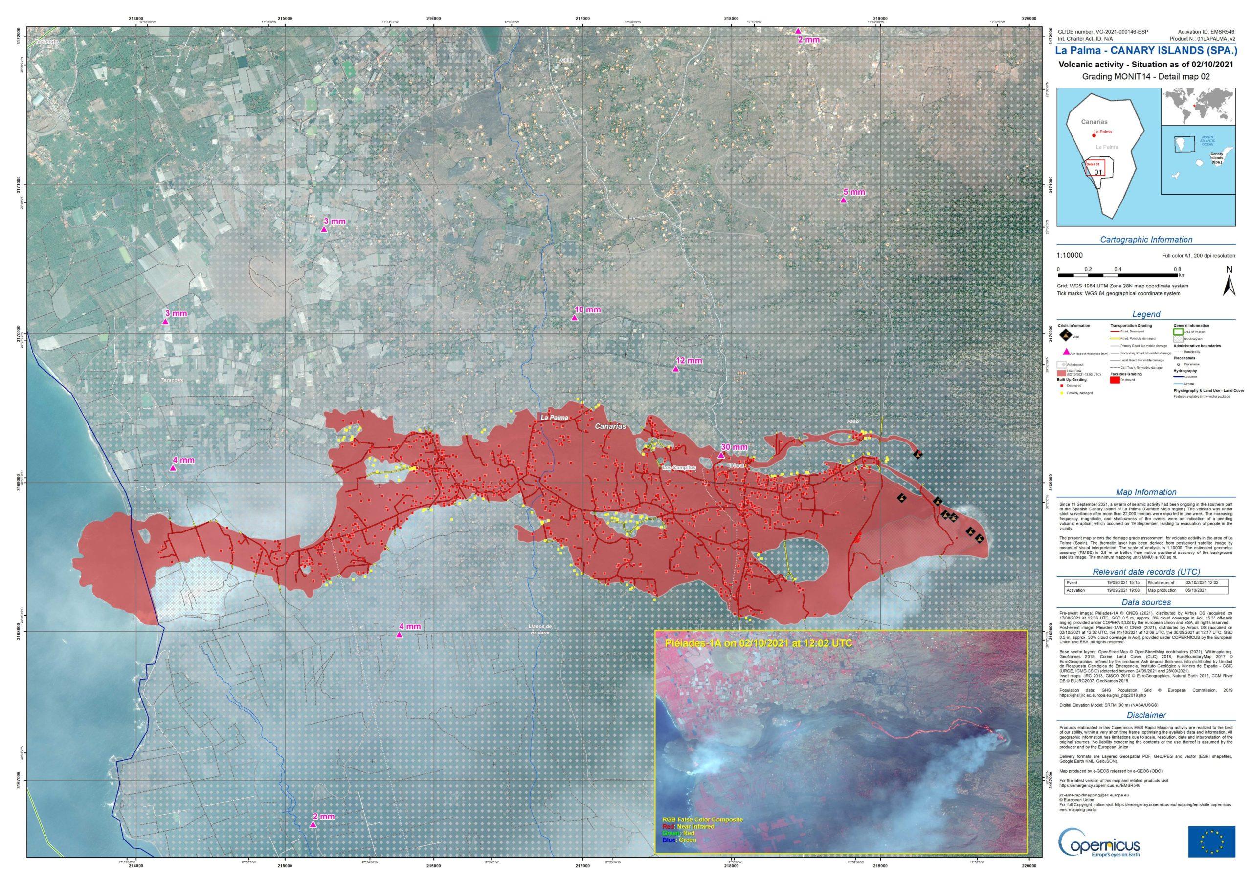 Read more about the article Neueste Landkarten zum Vulkanausbruch auf La Palma